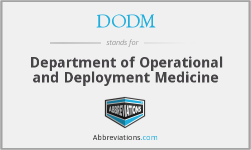 What does DODM stand for?
