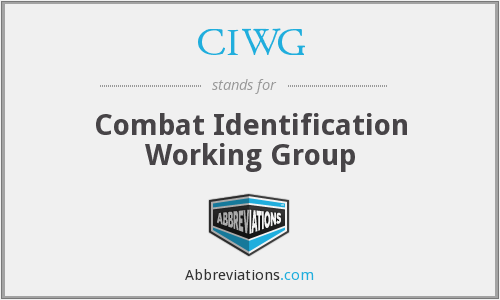 What does CIWG stand for?