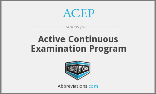 What does ACEP stand for?