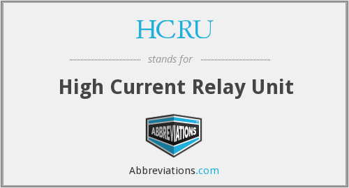 What does HCRU stand for?