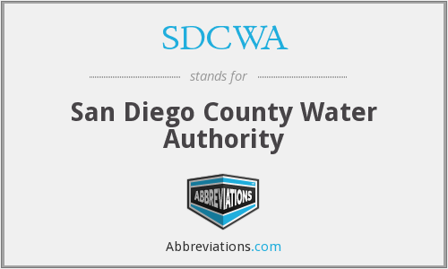 What does SDCWA stand for?