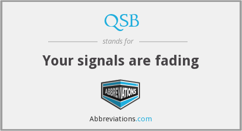 What does QSB stand for?