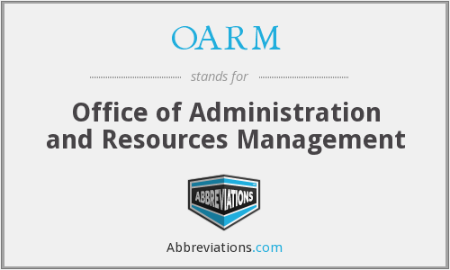 What does OARM stand for?