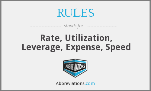 What does RULES stand for?