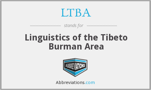 What does LTBA stand for?