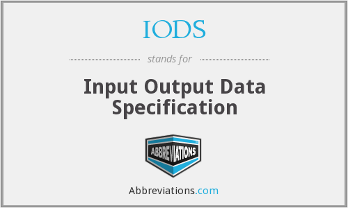 What does IODS stand for?