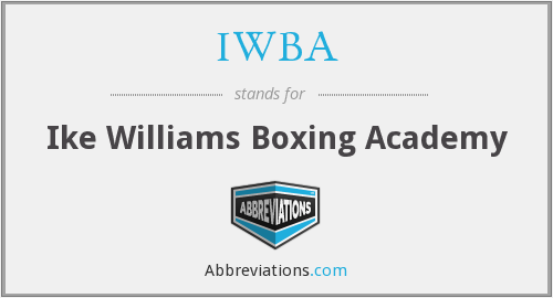What does IWBA stand for?