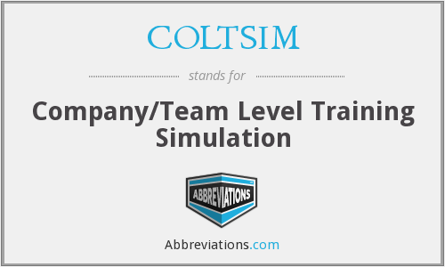 What does COLTSIM stand for?