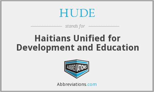 What does HUDE stand for?