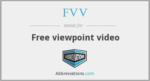 What does FVV stand for?