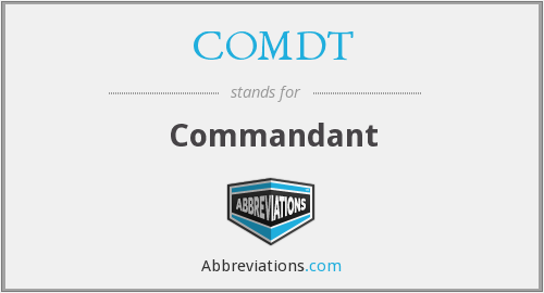 What does COMDT stand for?