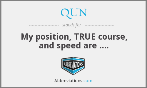 What does QUN stand for?
