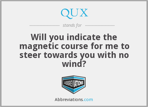 What does QUX stand for?