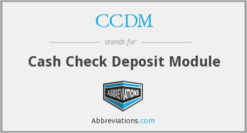 What does CCDM stand for?