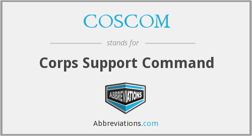 What does COSCOM stand for?