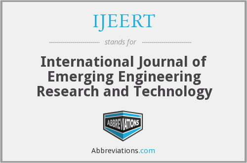 What does IJEERT stand for?