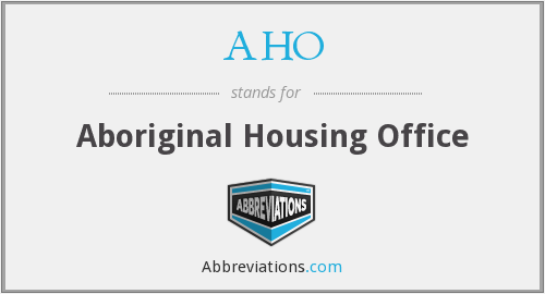 What does AHO stand for?