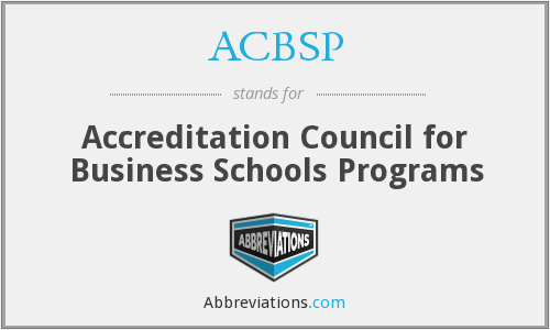 What does ACBSP stand for?