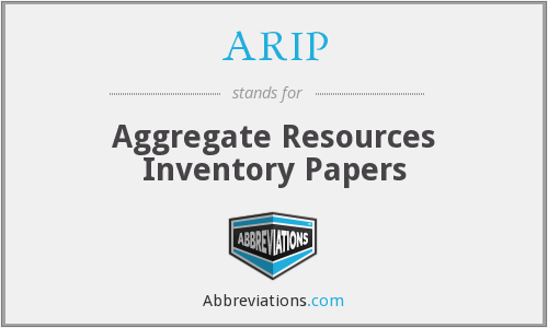 What does ARIP stand for?