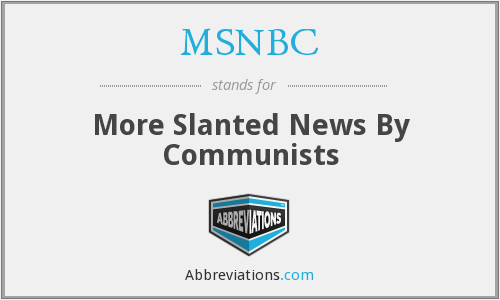 What does MSNBC stand for?