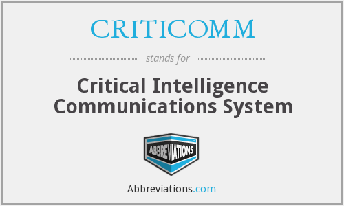 What does CRITICOMM stand for?