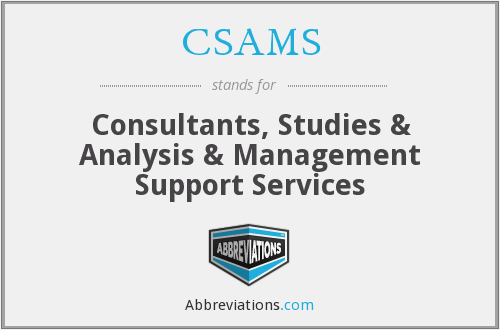 What does CSAMS stand for?