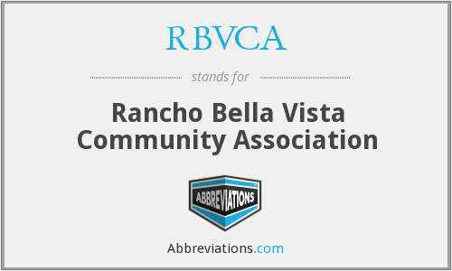 What does RBVCA stand for?