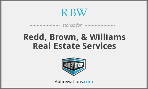 What does RBW stand for?