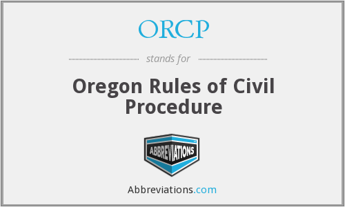 What does ORCP stand for?