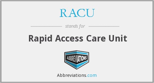 What does RACU stand for?