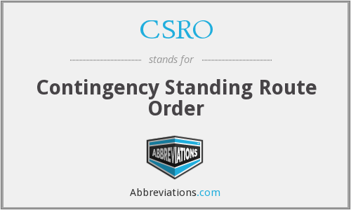 What does CSRO stand for?