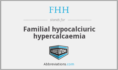 What does FHH stand for?