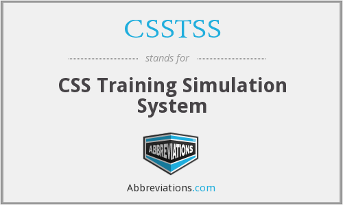 What does CSSTSS stand for?