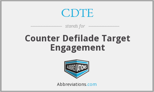 What does CDTE stand for?