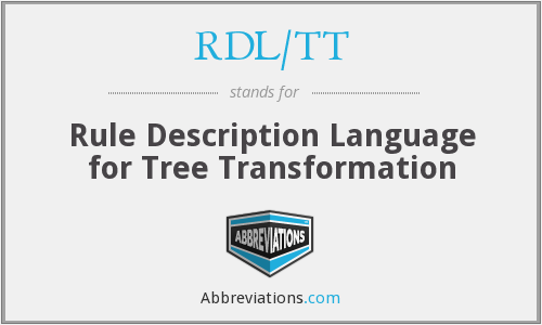 What does RDL/TT stand for?