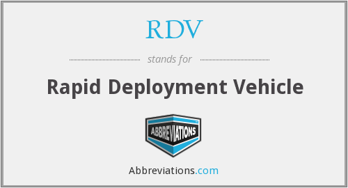 What does RDV stand for?