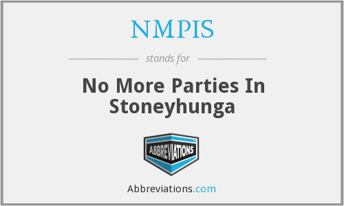 What does NMPIS stand for?