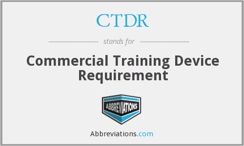 What does CTDR stand for?
