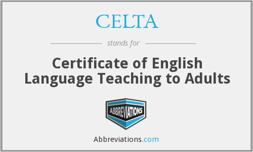 What does CELTA stand for?