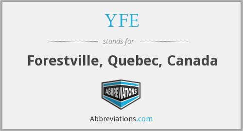 What does YFE stand for?