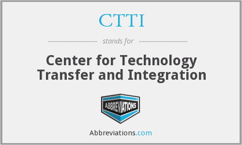 What does CTTI stand for?