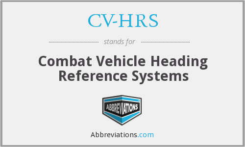 What does CV-HRS stand for?