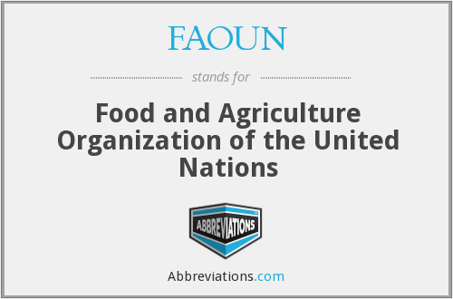 What does FAO UN stand for?