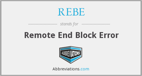 What does REBE stand for?