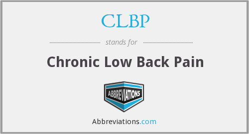 What does CLBP stand for?