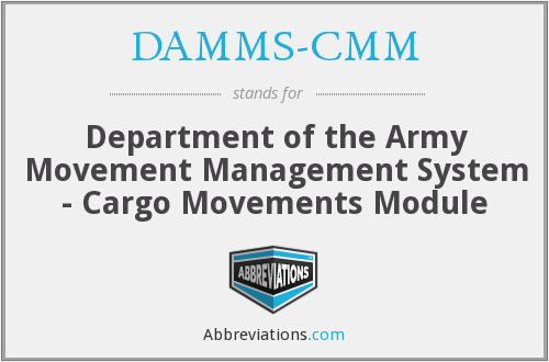 What does DAMMS-CMM stand for?