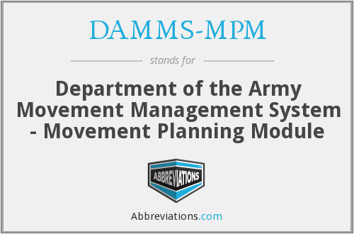 What does DAMMS-MPM stand for?