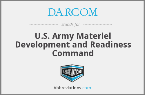 What does DARCOM stand for?