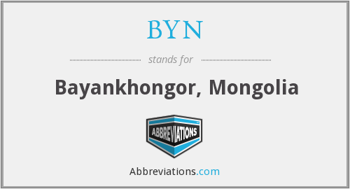 What does BYN stand for?