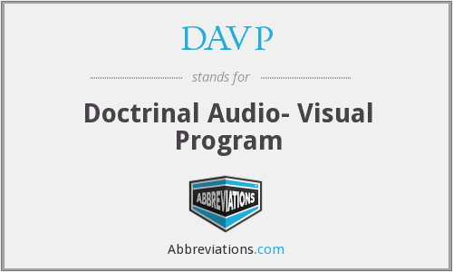 What does DAVP stand for?